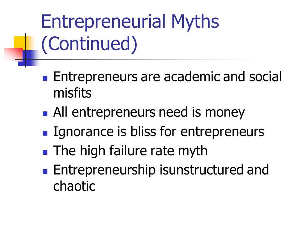all entrepreneurs need is money