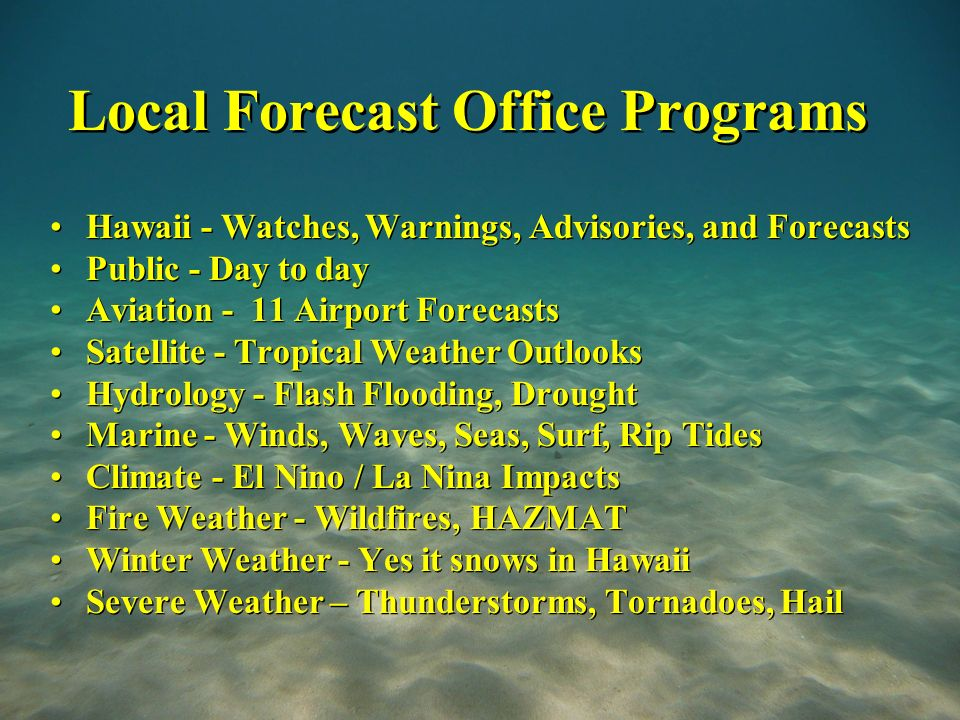 National Weather Service Weather Forecast Office Central