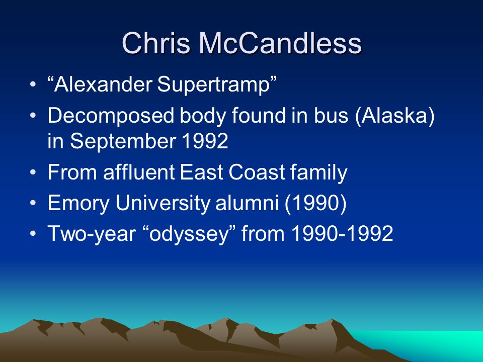 describe chris mccandless