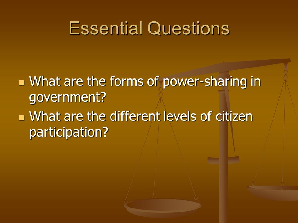 forms of power sharing