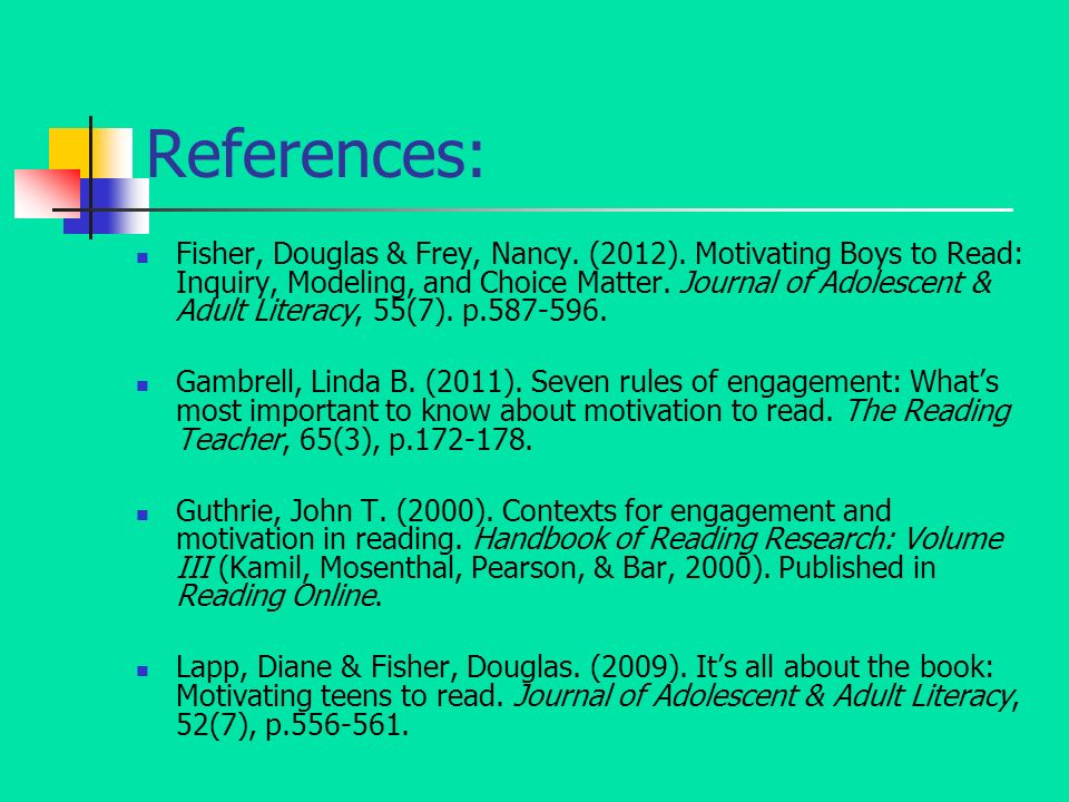 14 References: Fisher ...