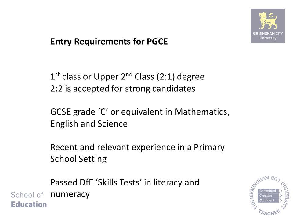 Pgce Primary Early Years Programme Presentation To Coventry