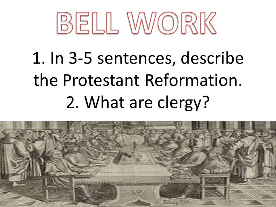 protestant reformation in a sentence