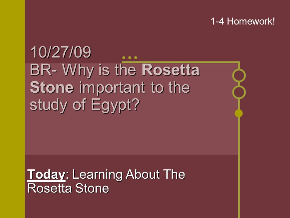 102709 Br Why Is The Rosetta Stone Important To The Study Of