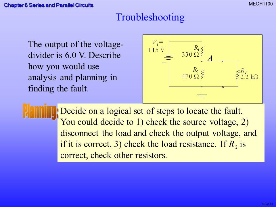chapter 6 series and parallel circuits 1 of 81 mech of 81 chapter 6 rh slideplayer com