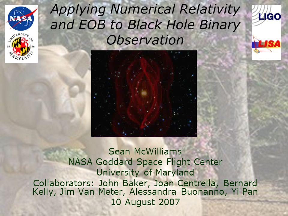 Applying Numerical Relativity and EOB to Black Hole Binary