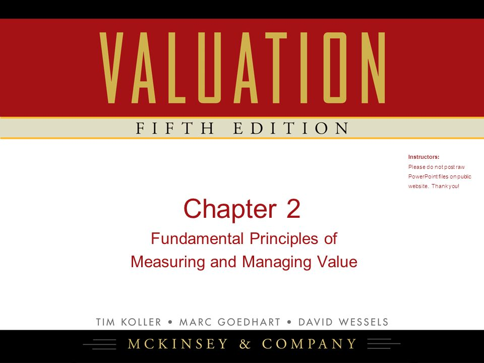 Chapter 2 Fundamental Principles of Measuring and Managing Value