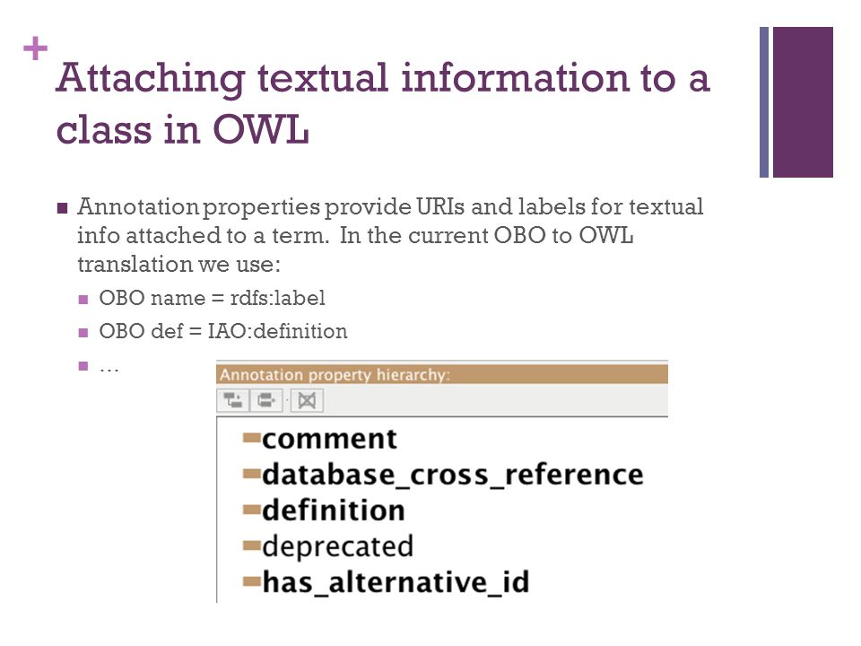 From OBO to OWL and back again – a tutorial David Osumi-Sutherland