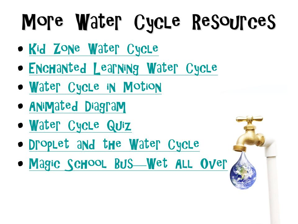 Thewatercycle how old is the water you drink the water in your 11 more water cycle resources kid zone water cycle enchanted learning ccuart Gallery