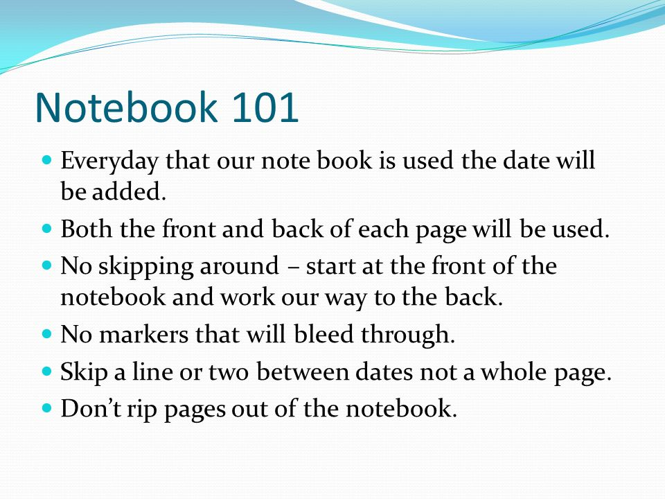 The Notebook Book Pages