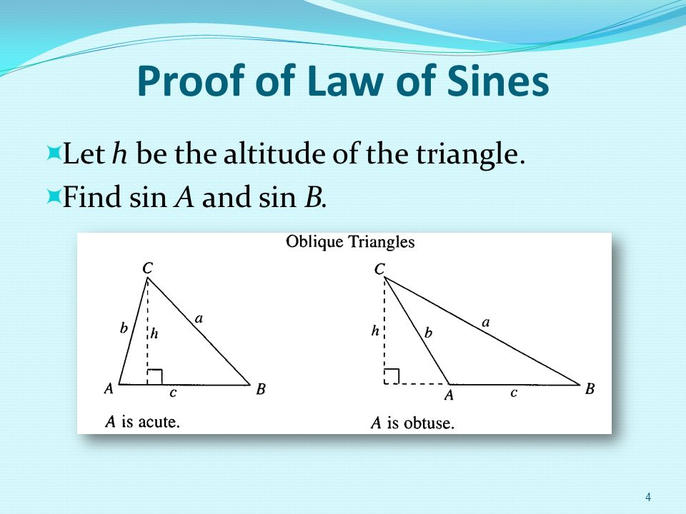 Chapter 6 Additional To In Trigonometry 61 The Law Of Sines. 4 Proof Of Law Sines Let H Be The Altitude Triangle Find Sin A And B. Worksheet. Law Of Sines Aas Worksheet At Mspartners.co
