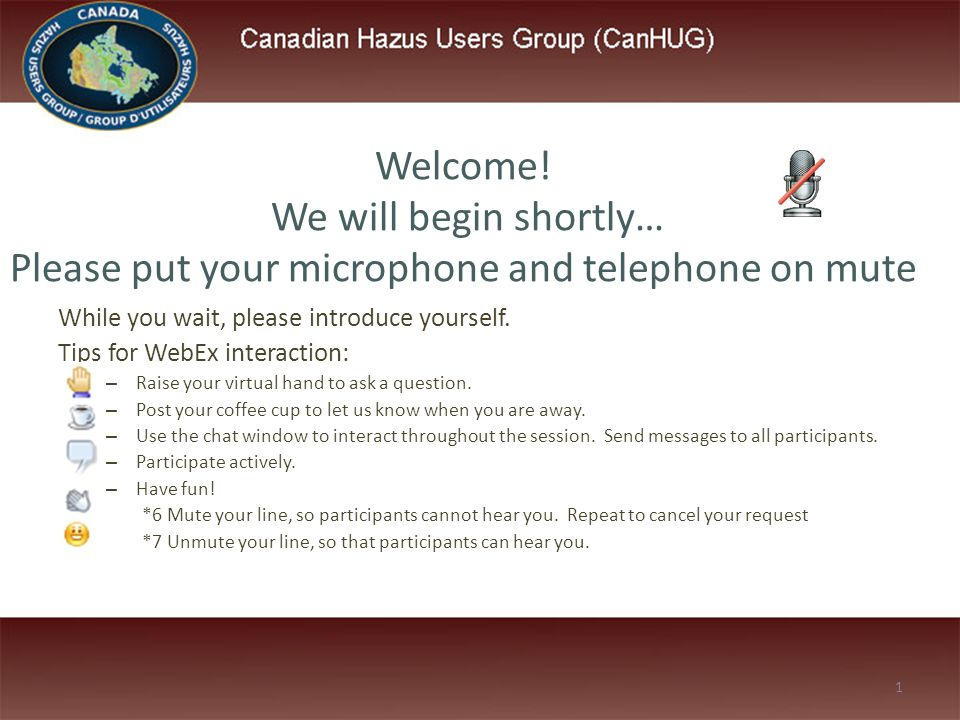 While you wait, please introduce yourself  Tips for WebEx