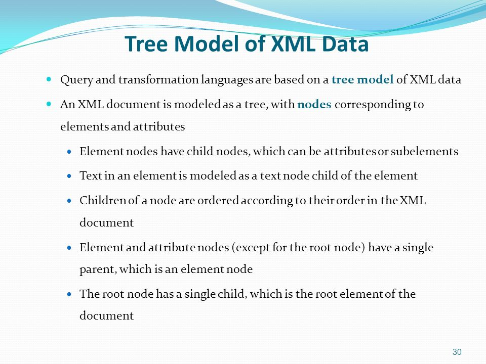 1 Xml Structure Of Xml Data Xml Document Schema Querying And