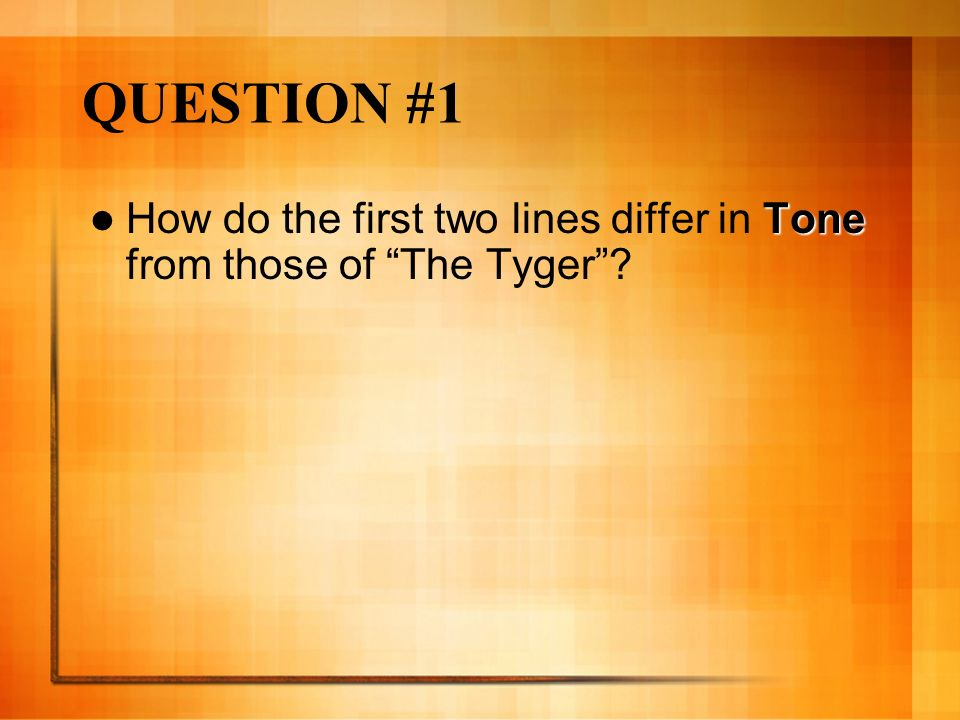 the tyger tone