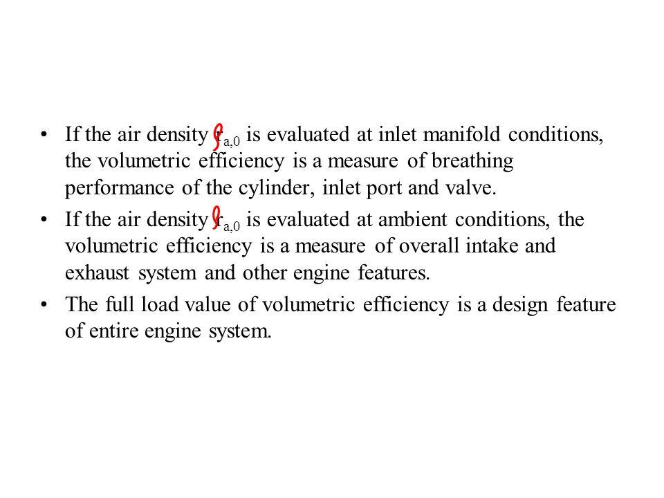 Volumetric Efficiency of Engine P M V Subbarao Professor