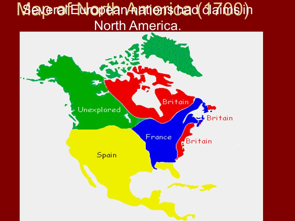 Map Of America In 1700.Chapter 2 Section 2 The English Colonies Main Idea The