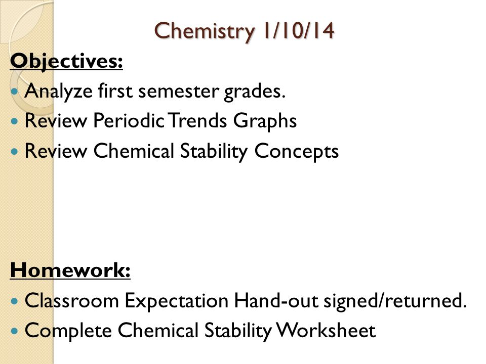 Periodic Table Objectives I. Worksheet. Periodic Trends Worksheet Chapter 6 At Clickcart.co