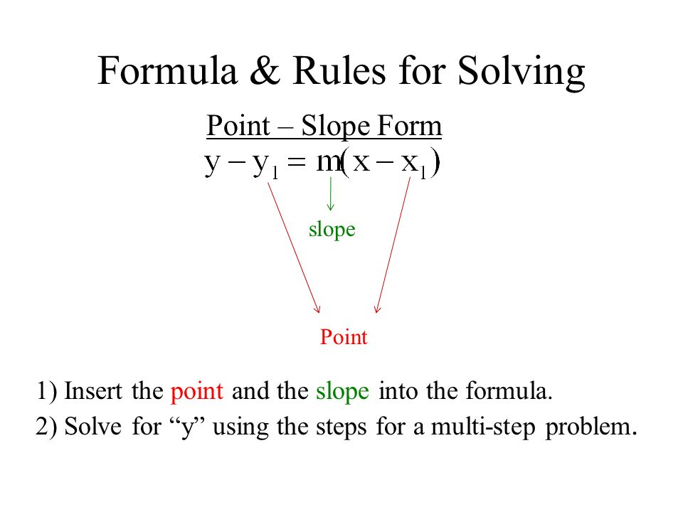 Ch 11.11 Objective: To write equations given the slope and a ...