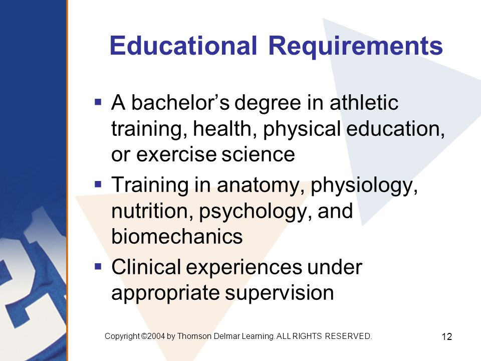 Chapter 2: Athletic Training. Copyright ©2004 by Thomson Delmar ...