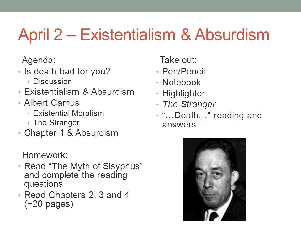 the stranger camus existentialism