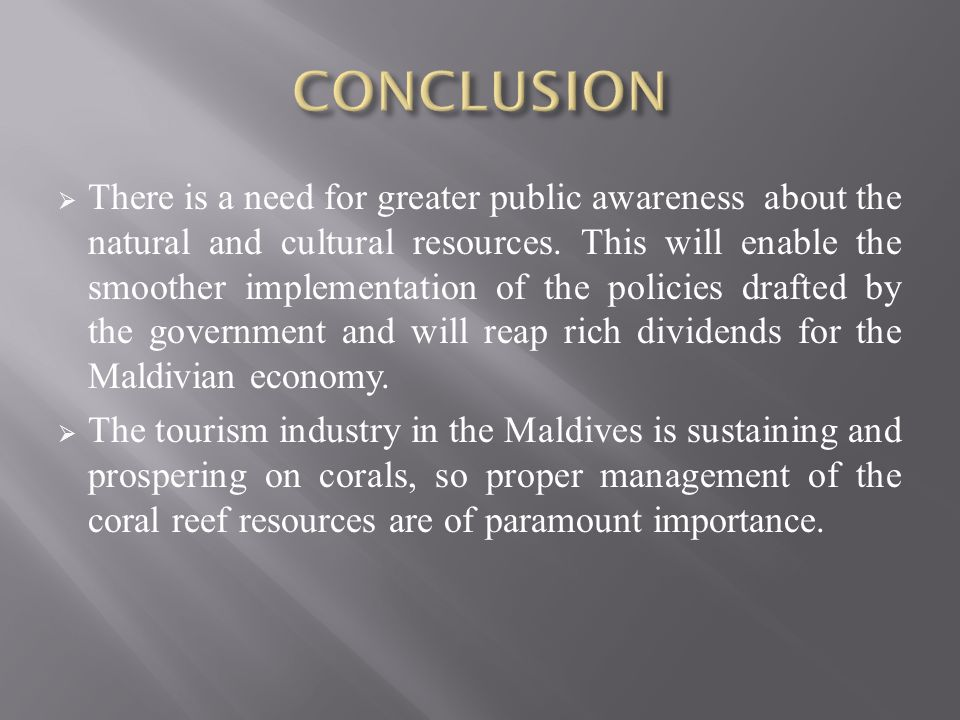 importance of tourism in maldives