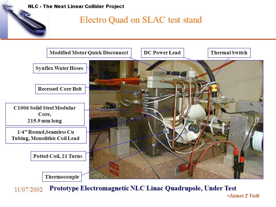 NLC - The Next Linear Collider Project Status of Magnet R&D Nov  7