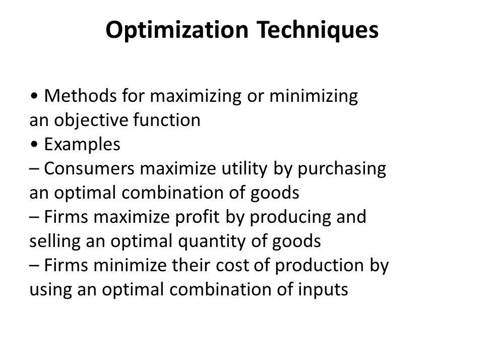 modern optimization techniques ppt