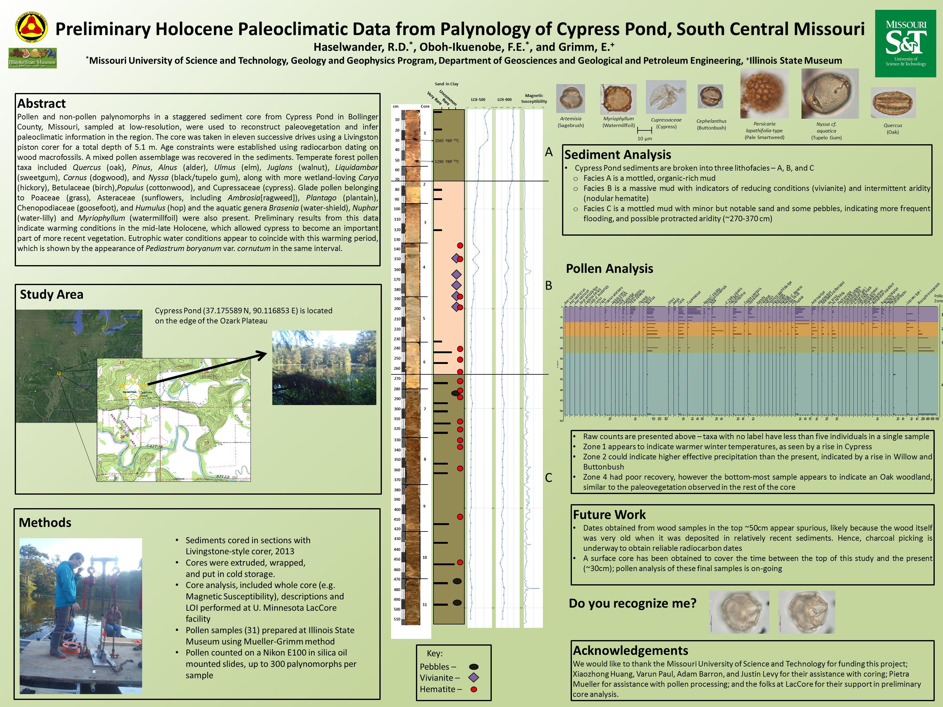 radiocarbon dating pollen