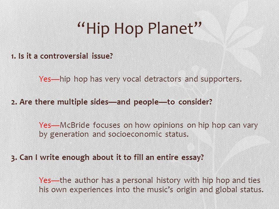 hip hop thesis statement