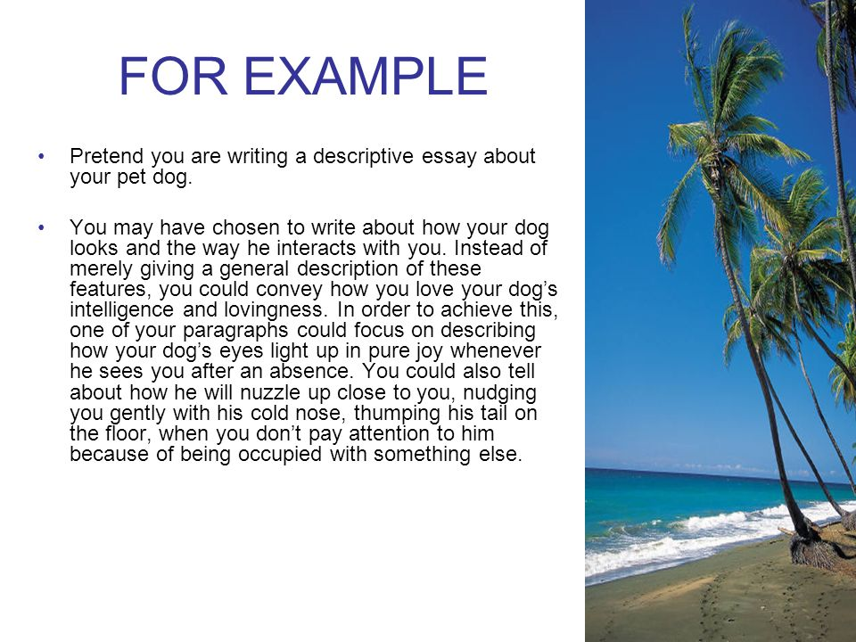 English Persuasive Essay Topics For Example Pretend You Are Writing A Descriptive Essay About Your Pet Dog Essay Writing High School also Essays On Science And Religion Descriptive Writing Put Notes In Link Spiral Next Page  Ppt Download English Language Essay