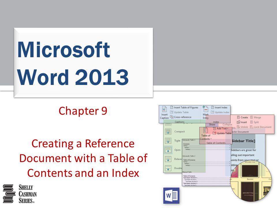 microsoft word 2013 table of contents