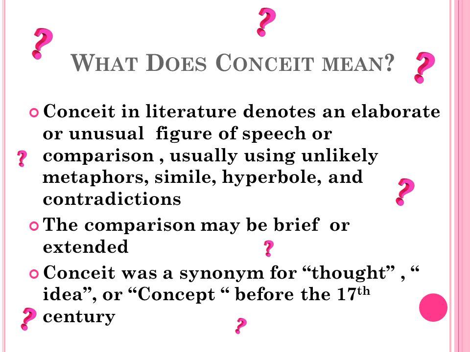 conceit definition literature