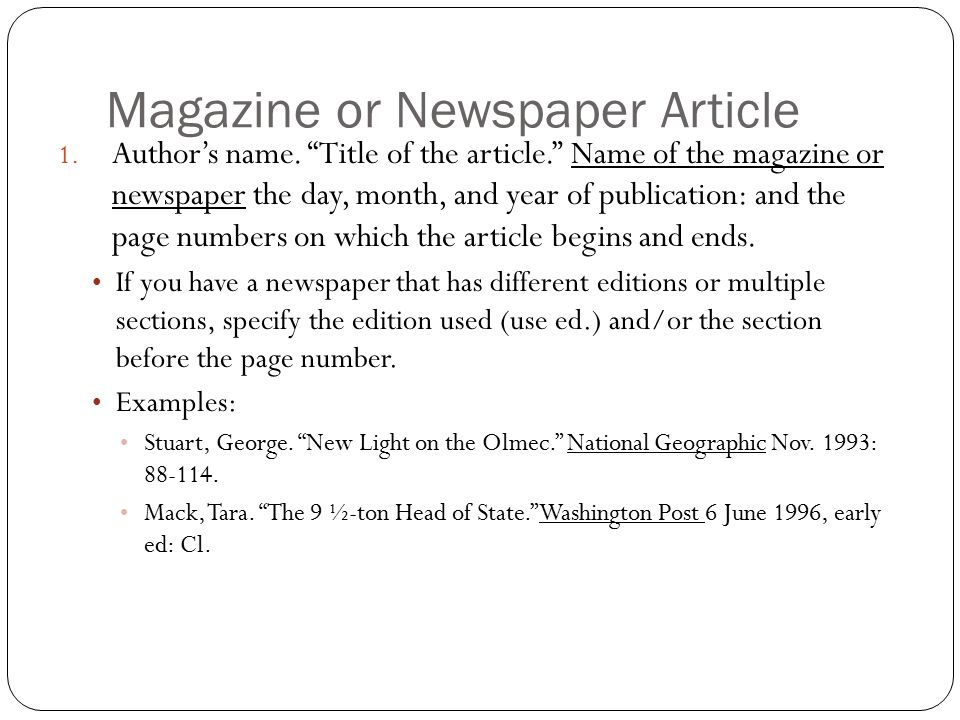 What info do i need annotated bibliography book with one author 1 4 magazine ccuart Images