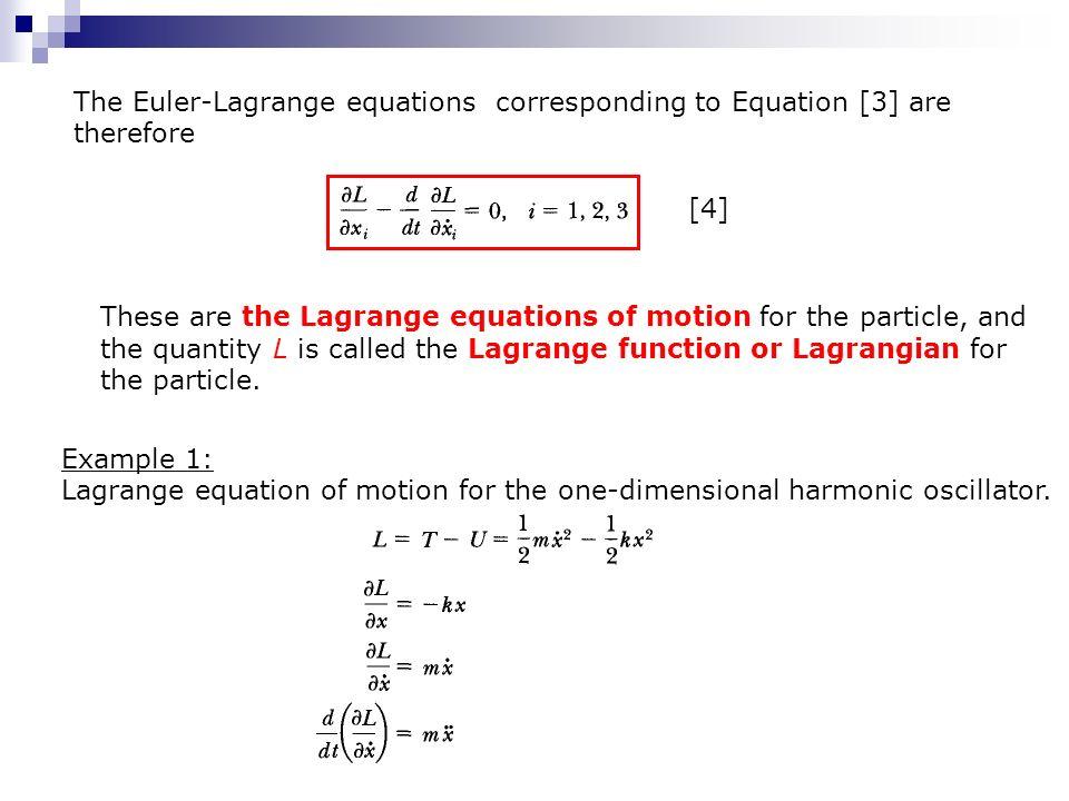 Derive the euler-lagrange equations q.