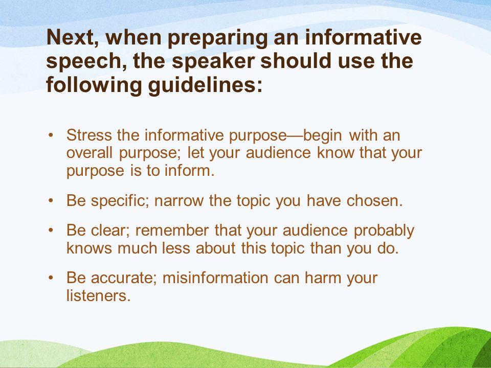 informative speech about stress management