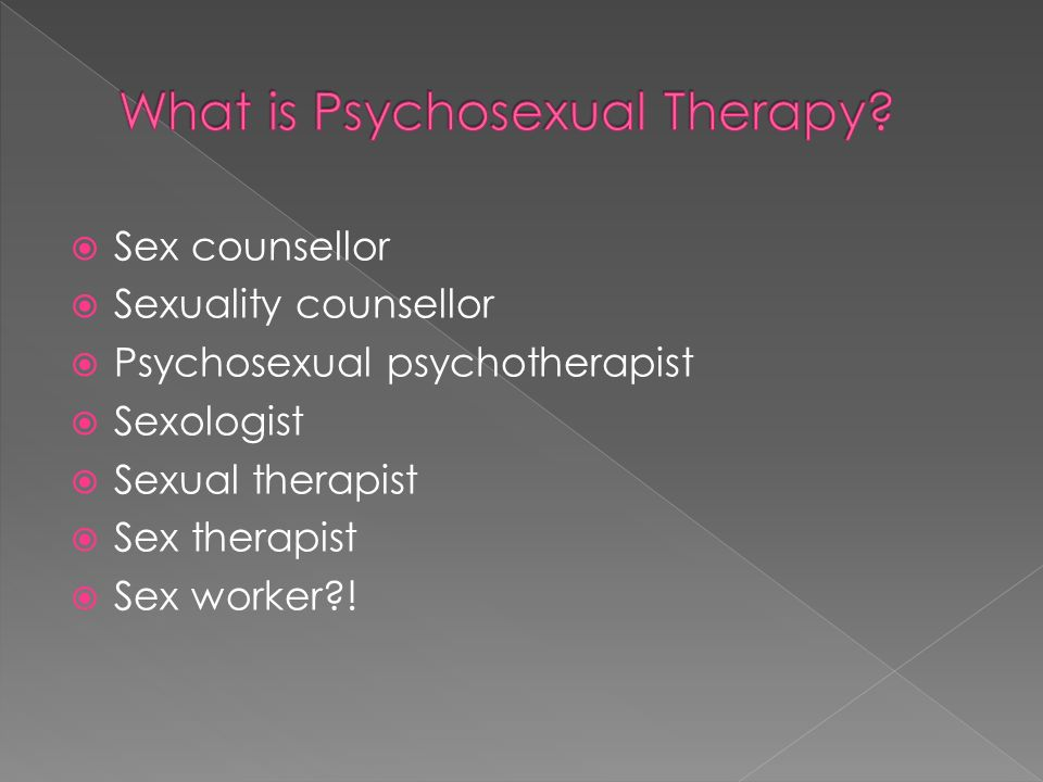 Psychosexual psychotherapy training