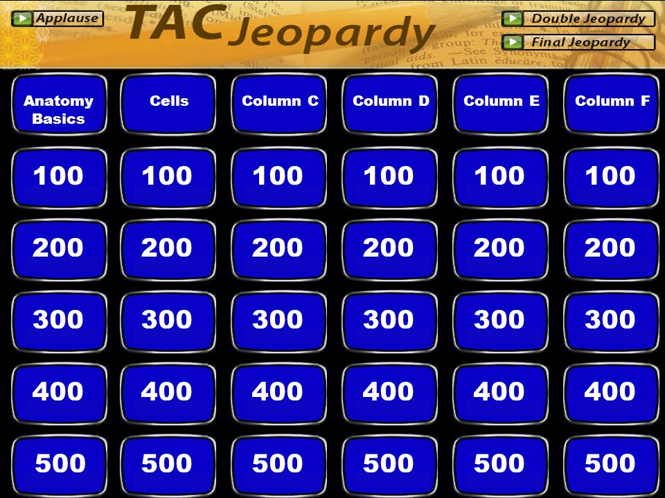 ACTIVE LEARNING POWERPOINT JEOPARDY GAME TEMPLATE Begin