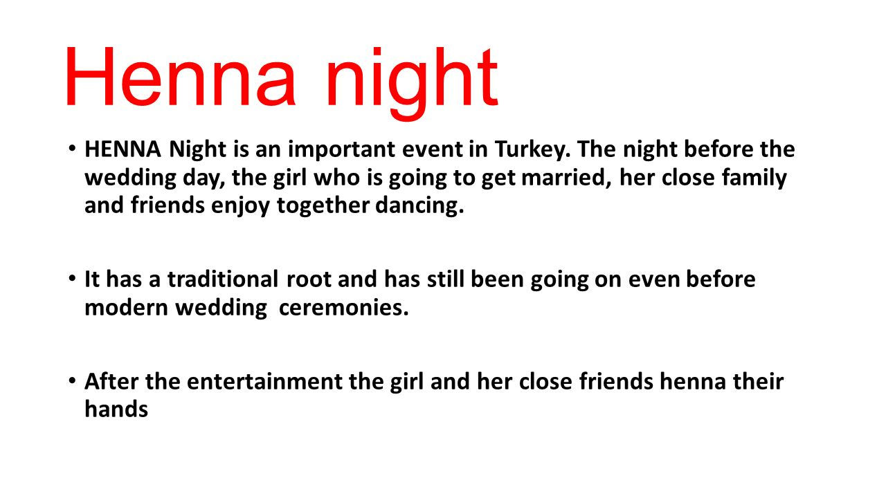 How Turkish People Entertain Henna Night Is An Important Event In