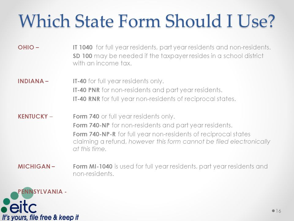 Filing State Taxes 1 Course Overview BASIC State Taxes