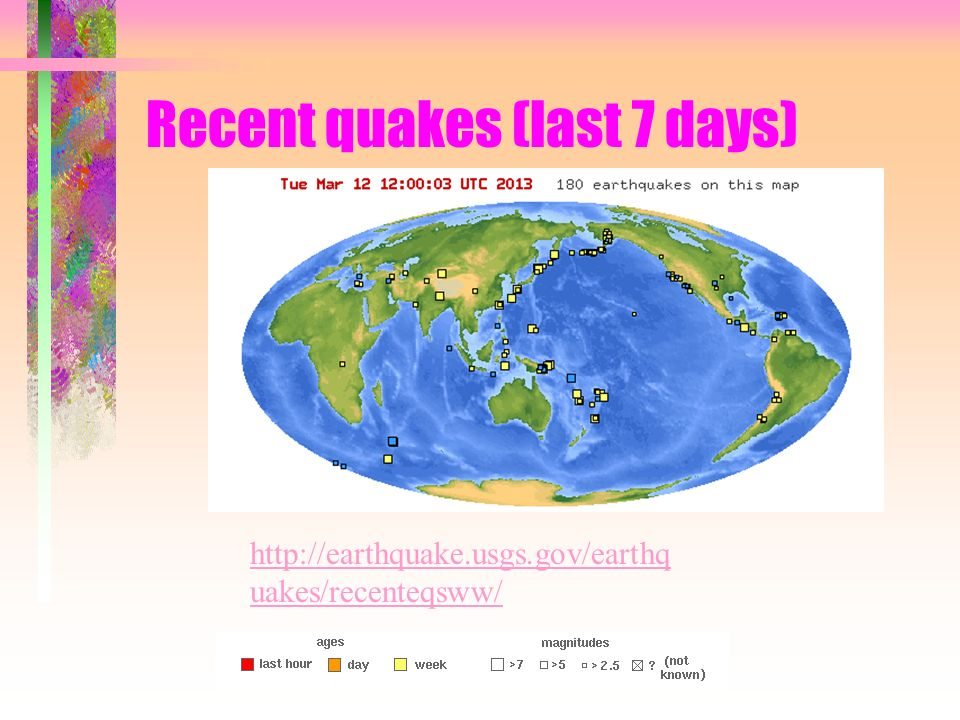 Earthquakes chapter 15 recent quakes last 7 days uakesrecenteqsww 2 earthquakes chapter 15 gumiabroncs Image collections
