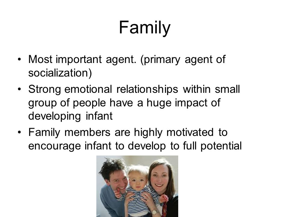 primary agents of socialization