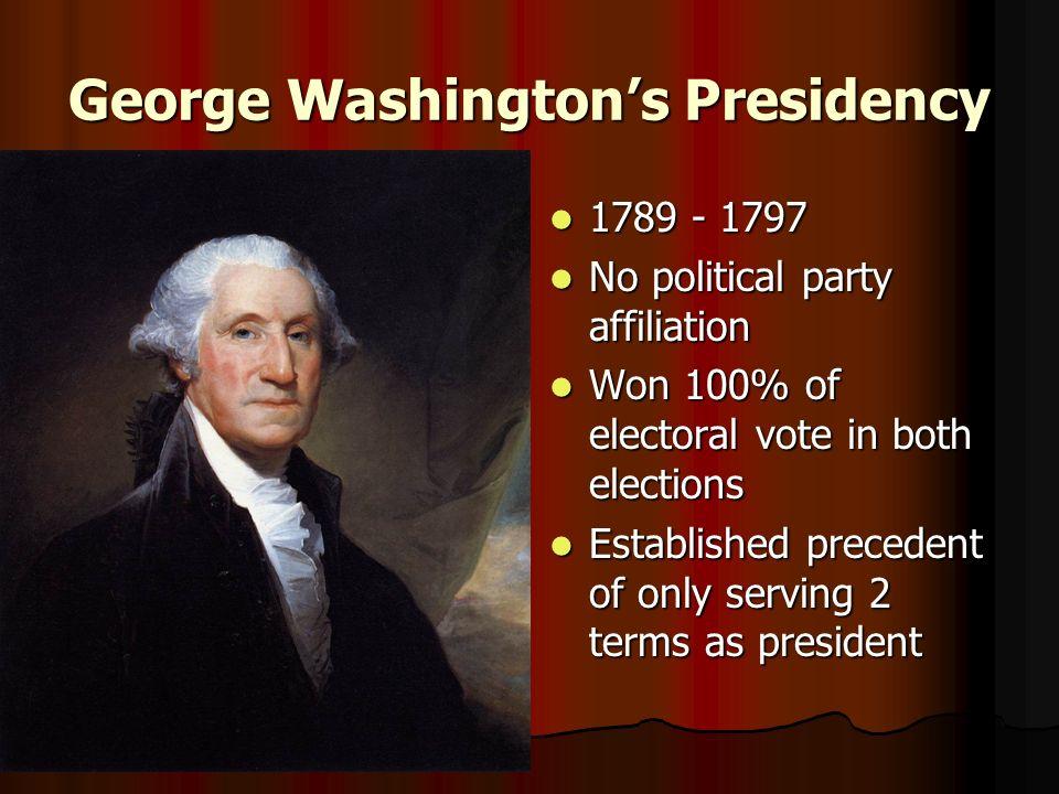 George Washington on political parties