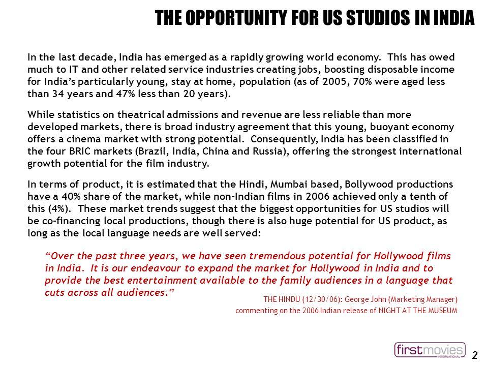 india film industry statistics
