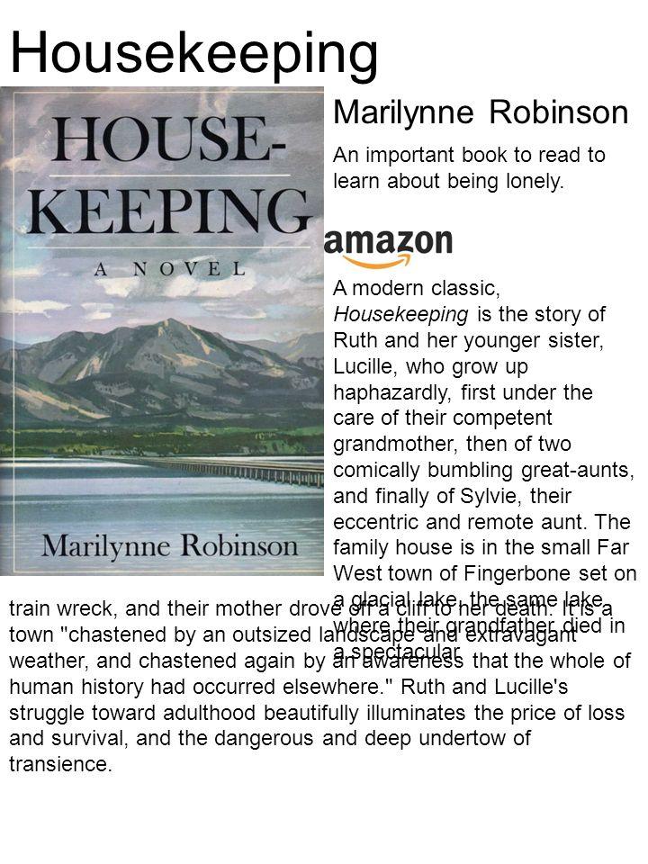 marilynne robinson housekeeping summary