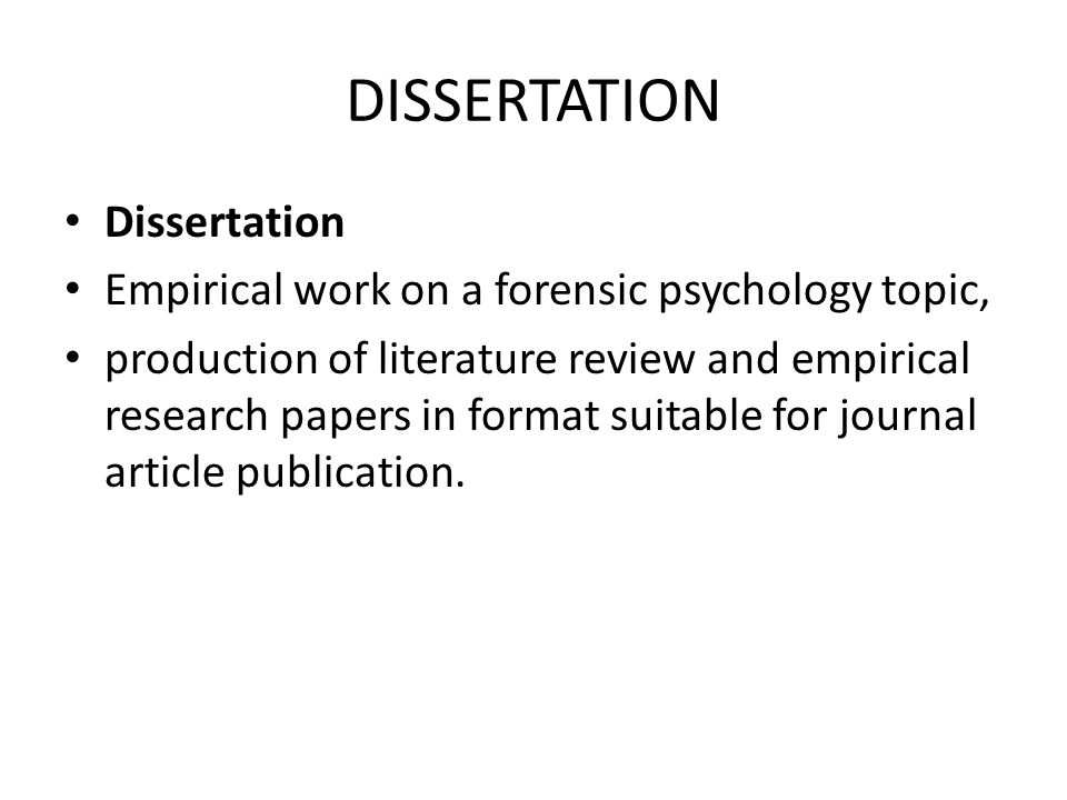 forensic psychology topics for research paper