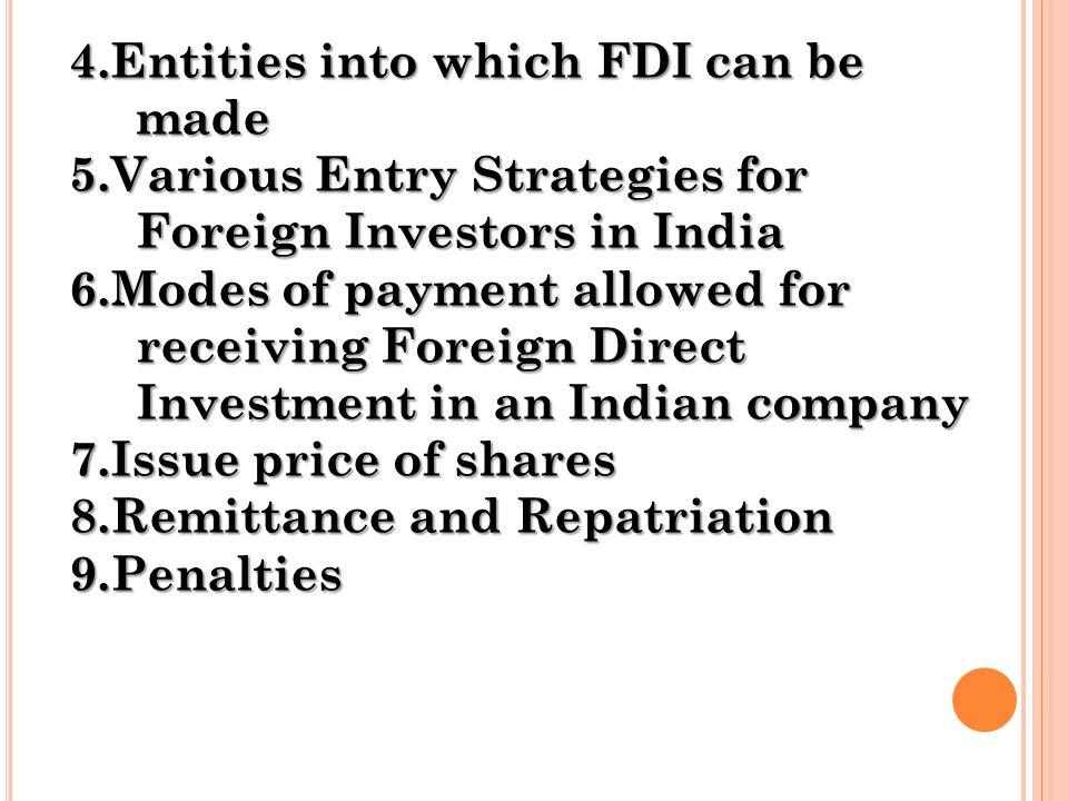 modes of fdi in india