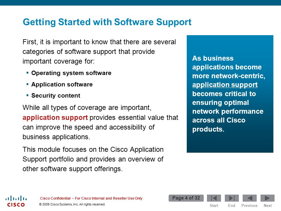 Start Page 1 of 32 EndPreviousNext © 2009 Cisco Systems, Inc