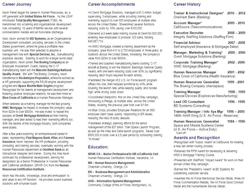 Skills & Experience Human Resources Organizational
