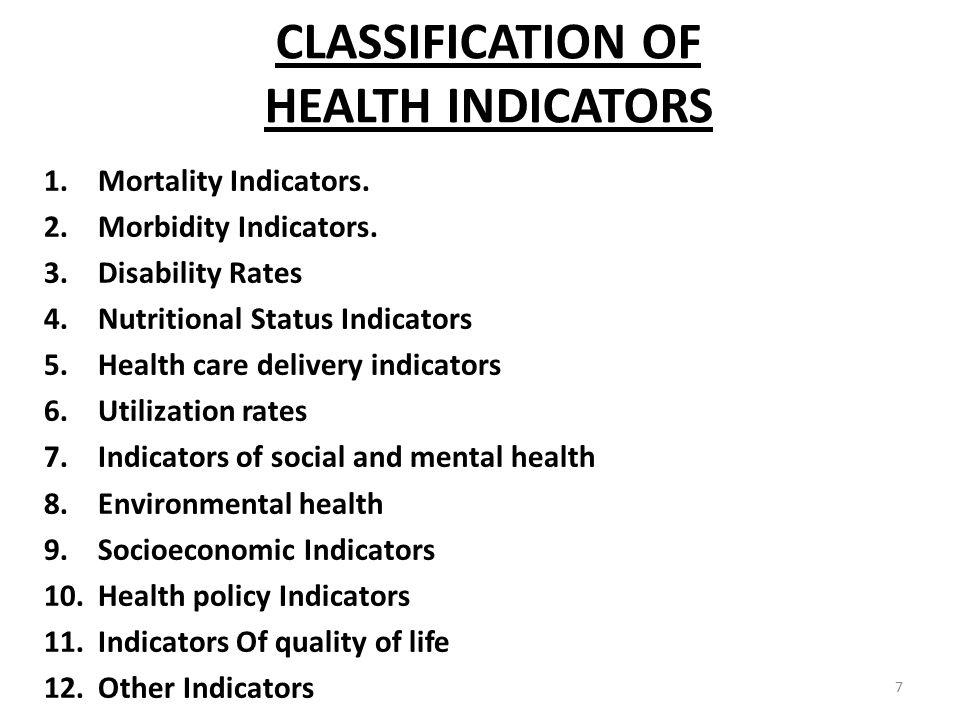 health indicators