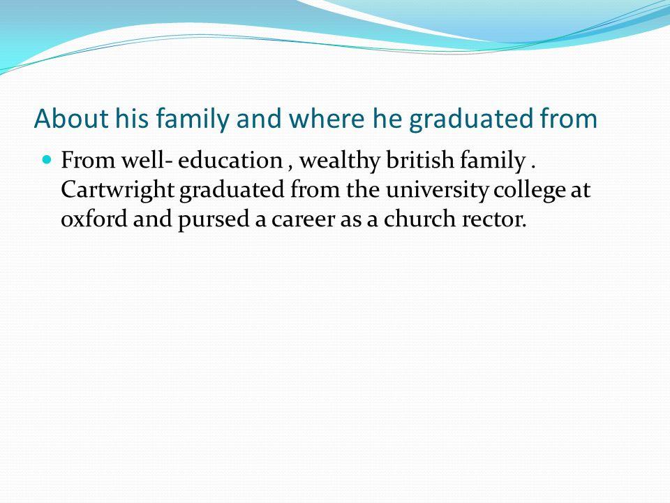 Power Loom About Edmund Cartwright Born 1743 Edmund Cartwright Was